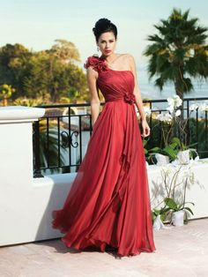 Hot red one step maxi