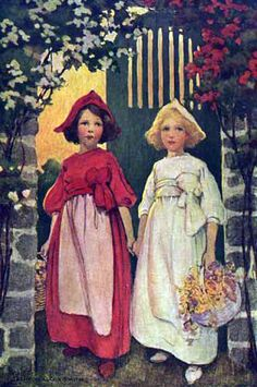 "masterpiecedaily: "" Jessie Wilcox Smith Snow White and Rose Red 1911 """