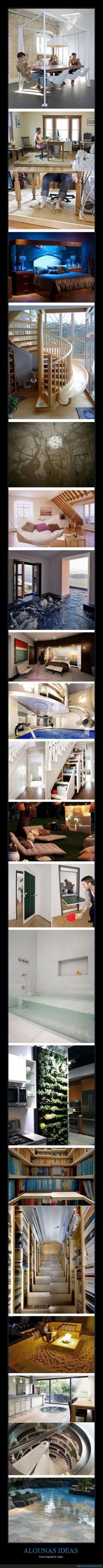 ALGUNAS IDEAS - Para mejorar tu casa