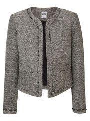 PITKÄHIHAINEN BLAZER, Medium Grey Melange Blazer, Grey, Sweaters, Summer, Medium, Spring, Fashion, Ash, Gray
