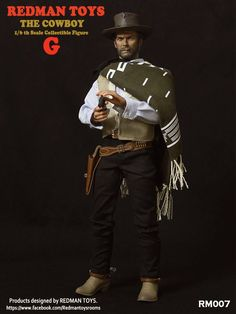 toyhaven: REDMAN TOYS 1/6th scale Cowboys G, B and D are The Good, the Bad and the Ugly figures