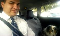 Our salesperson Steven couldn't resist snapping a #selfie with a customers #FurryFriend! #ToyotaCarlsbad