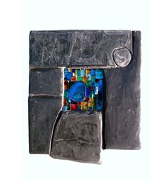 Slate and glass mosaics for the garden wall, gate or ornaments