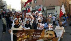 تظاهرات غاضبة في البحرين تنديدا بقرار تمديد حبس الشيخ سلمان http://www.alghadeer.tv/news/detail/22191/