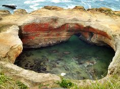 Devils Punch Bowl....... Oregon's coast rivals the most pristine Californian beaches in terms of beauty & activities.... Check out when to go, what to do & where to camp or RV!