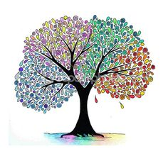 Illustration of a four seasons tree by Анна Косенко - Stock Photo