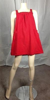 $9.99 Vintage Retro 70s red corduroy mini jumper dress