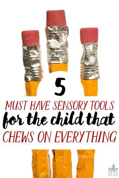 5 Awesome Sensory Tools for the Child that Chews on Everything via @wunder_mom