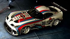 Dodge Viper SRT Martini-Rennlackierung - New Ideas Dodge Viper, Viper Acr, Dodge Srt, Martini Racing, Vw Cars, Race Cars, Slot Car Racing, Benz, Car Accessories For Girls