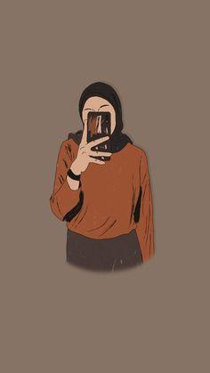 By coretanpena__ Art Drawings Sketches Simple, Cartoon Sketches, Applis Photo, Cute Pastel Wallpaper, Islamic Cartoon, Hijab Cartoon, Cute Girl Drawing, Illustration Art Drawing, Popular Art