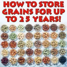 Detailed and comprehensive information about how to store grains for up to 25 years. Information that I am adding to my disaster preparedness plan and putting to use immediately! - http://www.survivalacademy.co/