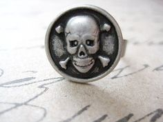 Halloween Ring  Skull Ring by iceblues on Etsy, $8.00