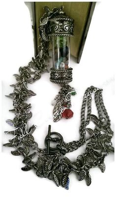 Meditation Vessel Necklace - Unisex Silver Meditation Necklace - Amethyst Necklace - Quartz Necklace - Peridot Necklace - Magnesite Necklace