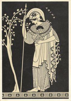 The Goddess Athena Ancient Greek Art, Ancient Greece, Athena Symbol, Mediterranean Art, Greece Art, Greek Pottery, Greek Gods And Goddesses, Legends And Myths, Greek And Roman Mythology