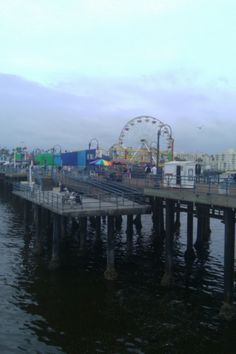 Santa Monica Pacific Ocean Park pier, California where I grew up surfing and swimming in the ocean