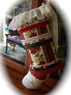Heirloom Christmas Stocking by Created by Cath., via Flickr- www.createdbycath.com