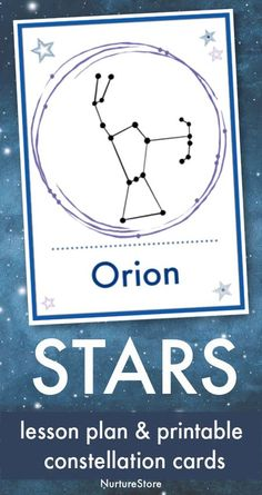 star constellation cards printable, Space Unit, learning about stars with kids, simple star gazing printable Printable Star, Printable Cards, Printables, Literacy Games, Math Activities, Free Homeschool Curriculum, Homeschooling, Astrology Stars, Spelling Practice