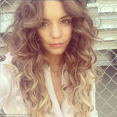 Hair today: Vanessa debuted her flowing ombre locks on her Tumblr page on Thursday