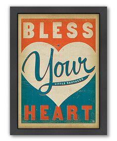 'Bless Your Heart' Framed Print