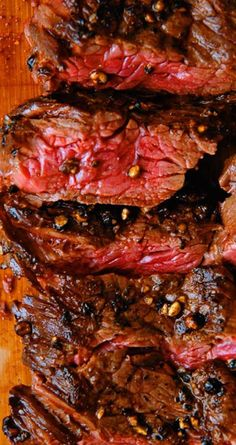 Recipe for Hanger Steak with Red Wine Sauce - This recipe gives you a melt in your mouth, delicious hanger steak. Without the fancy steakhouse prices taking a bite out of your wallet.
