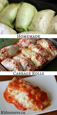 A recipe for cabbage rolls that can be made for dinner or frozen to eat at a later date. Perfect for bulk meal preparation. Easy Cabbage Rolls, Cabbage Wraps, Cabbage Rolls Recipe, Cabbage Recipes, Beef Recipes, Cooking Recipes, Healthy Recipes, Vegetarian Cabbage Rolls, Cooked Cabbage