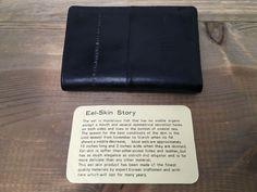 Vintage Men's Eel Skin Trifold Wallet Black Holds 8 Cards Excellent Eel Skin Wallet, Black Hold, Key Chain Holder, Black Wallet, Credit Card Wallet, Vintage Men, Hold On, Hipster Stuff, Nice