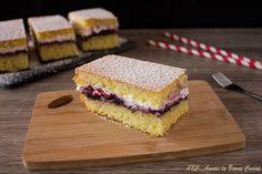 Torta+soffice+con+panna+e+marmellata