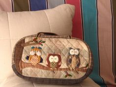 little owl sewing case