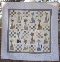 (7) Name: 'Quilting : Scrappy Cat Quilt Pattern