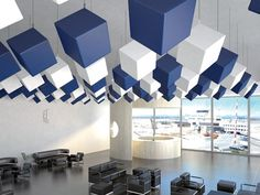 SOUND INSULATION AND SOUND ABSORBING PANEL FOR FALSE CEILING MAPPYCUBIC BY MAPPY ITALIA