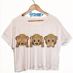 Monkey emoji shirt for girls