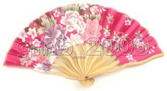 New Oriental Silk Hand BAMBOO FAN