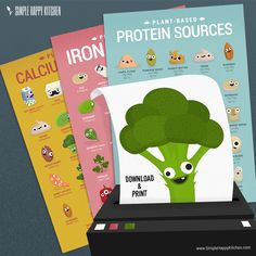 You can get FREE 3 high quality printable posters of Protein, Iron and Calcium vegan sources, directly to your mail. just sign up on www.simplehappykitchen.com to get them! © Simple Happy Kitchen