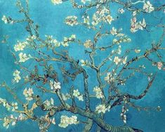 off Hand made oil painting reproduction of Branches with Almond Blossom, one of the most famous paintings by Vincent Van Gogh. Van Gogh's Branches with Almond Blossom is one of some variations on the theme of the almond tree in bloom, painte. Vincent Van Gogh, Van Gogh Museum, Paul Gauguin, Van Gogh Tapete, Van Gogh Wallpaper, Van Gogh Almond Blossom, Diamond Drawing, Tree Artwork, Cross Paintings