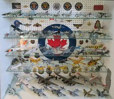 My diecast aircraft showcase that came from my old Radio Shack store back in the 70's. All cleaned up with a real Royal Canadian Air Force Canadair CT-33 fuselage decal on the background, it's the perfect home for quite a few pounds (and dollars) of metal aircraft. #HalifaxAuthor #Halifax #rcaf #royalcanadianairforce #novascotia #coldwar #secondworldwar #worldwarii #writer #amwriting #author #daniellloydlittle