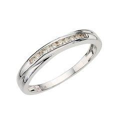 ErnestJones 9ct white gold channel set diamond crossover ring - Product number 6751512  £275