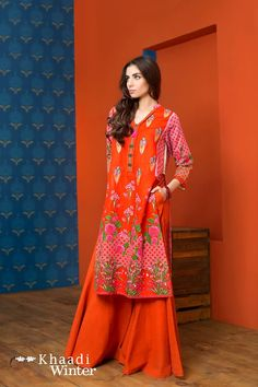 Khaadi Winter Vol 2 Khaddar #2 Piece Embroidered Suits 2016-17