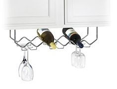 Wine Racks - Useful UHGB186 Under Cabinet Stemware Holder and Wine Rack  Holds 6 Bottles6 Stems  Chrome *** Be sure to check out this awesome product.