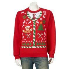 Men's+Ugly+Chirstmas+Holiday+Scene+Sweatshirt