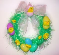 Spring or Easter Grass Wreath