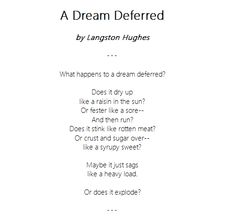 Imgs For > Langston Hughes Poems Dream Deferred Words Quotes, Wise Words, Langston Hughes Poems, African American Quotes, Black History Quotes, National Poetry Month, Reading Strategies, Spoken Word, Beautiful Words