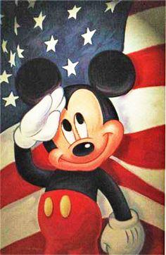 Mickey Salutes The USA
