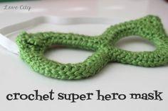Crochet a Super Hero Mask - Tutorial ❥ 4U // hf