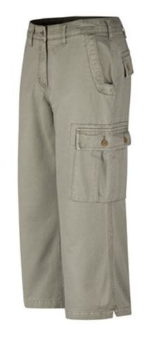 Mountain Khakis Women's Cargo Capri by Mountain Khakis. $34.41. The most comfortable, flattering, durable Capris you can buy, the Mountain Khaki Cargo Capris for Women are built with all-season 8.5oz Cotton Twill that moves with your body and breathes with the wind. With an new, enhanced fit featuring a notched hem on exaggerated cuffs that can be rolled up when crossing streams, wading in the ocean or on days when the temperatures hit a record high, the Cargo Capris are ide...