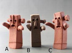 はにわ「フランケンはにわ」A、B、C |立体・オブジェ|はにわ堂|ハンドメイド通販・販売のCreema