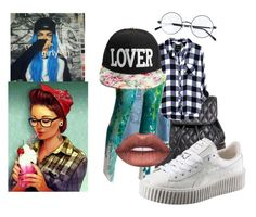 """""""Tom girl"""" by inspiredbyart345 ❤ liked on Polyvore featuring Vera Bradley, AG Adriano Goldschmied, Puma and Lime Crime"""