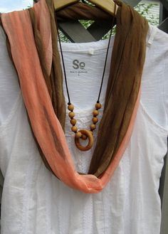 """Nursing Necklace Teething Ring Necklace """"Rattling Beads"""" from My Lil Market on Etsy Nursing Necklace, Teething Necklace, Teething Jewelry, Little Mac, Baby Food Jars, Wooden Rings, Baby Sewing, Tassel Necklace, My Style"""