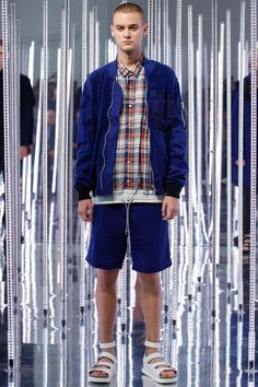Menswear trend: Updated bomber jackets. Seen here at Sacai.