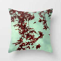 autumn red Throw Pillow by ingz - $20.00