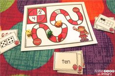 Valentine's themed game to work on number sense skills